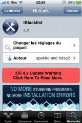 03 160x240 Cydia   iBlackList : Mise à jour en version 4.2 compatible iOS 4.2.1