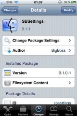 1 160x240 Cydia   SBSettings passe en version 3.1.1 1