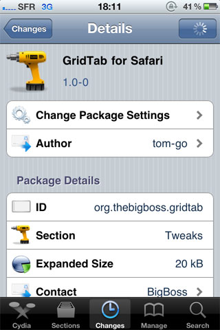 1 18 35 13 386 Cydia   GridTab For Safari enfin disponible [CRACK]