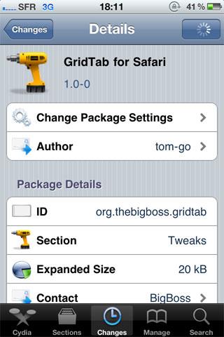 1 18 35 13 386 Cydia   GridTab For Safari enfin disponible [CRACK]