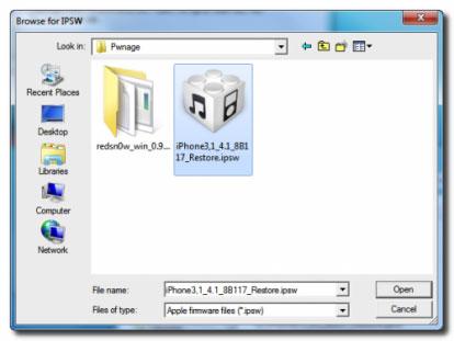 1110 Tutoriel   RedSnow : Jailbreak 4.1 avec Custom Firmware [Windows]
