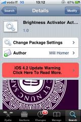 1126 Cydia   Brightness Activator Action : Modifier la luminosité de lécran avec Activator