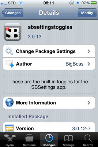 1131 Cydia   SBSettingsToggle enfin compatible iOS 4.2.1