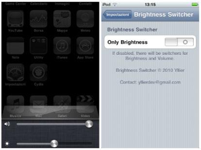 1142 Cydia   Brightness Switcher : Ajoutez un slide de luminosité dans la barre multitâche