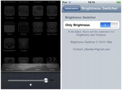 1143 Cydia   Brightness Switcher : Ajoutez un slide de luminosité dans la barre multitâche
