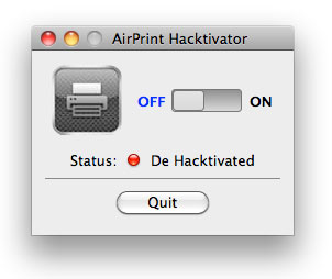 1168 News   AirPrint Hacktivator : Activer AirPrint sur votre MAC