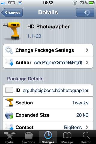 1174 Cydia   HD Photographer : Prenez des photos en 720p sur iPod Touch 4G