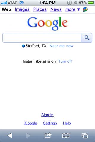 128 News   Google Instant arrive sur iPhone [Vidéo]