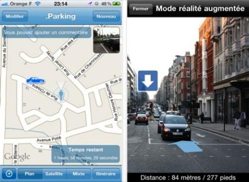 150 500x366 AppStore   .Parking : Retrouvez votre voiture avec la réalité augmentée