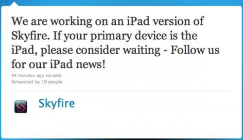 157 500x289 News   SkyFire bientôt disponible pour iPad