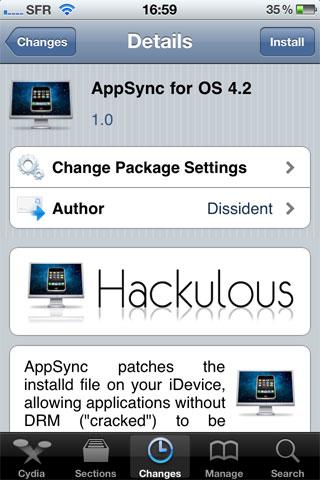 172 Cydia   AppSync for OS 4.2 enfin disponible