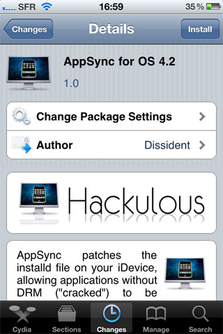172 Cydia   AppSync for OS 4.2 enfin disponible