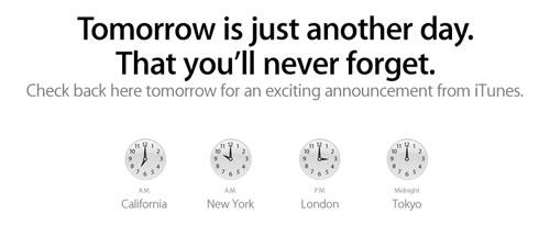 175 News   Une annonce importante concernant iTunes est prévue pour demain [EDIT important]