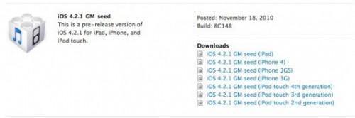 192 500x166 News   Apple publie liOS 4.2.1 GM