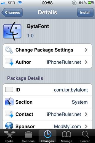 197 Cydia   BytaFont : Changez la police de votre appareil [Vidéo]