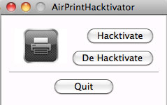 230 Tutoriel   Activez AirPrint sur Mac OS X 10.6.5