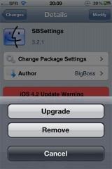 255 160x240 Cydia   SBSettings passe en version 3.2.1