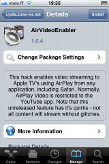 265 Cydia   AirVideoEnabler : Activez AirPlay Video Streaming pour toutes les applications