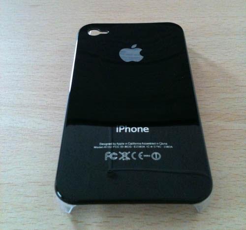 278 iPhBoutique – Coque iPhone 4 Noir avec logo Apple
