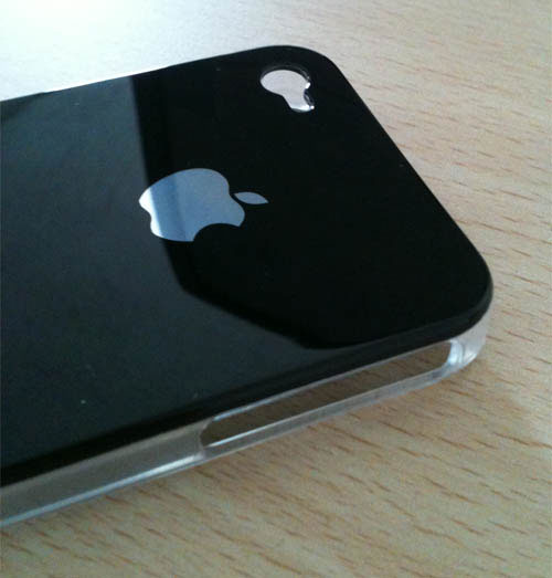 339 iPhBoutique – Coque iPhone 4 Noir avec logo Apple