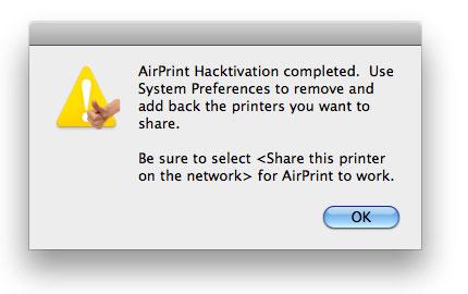 415 News   AirPrint Hacktivator : Activer AirPrint sur votre MAC