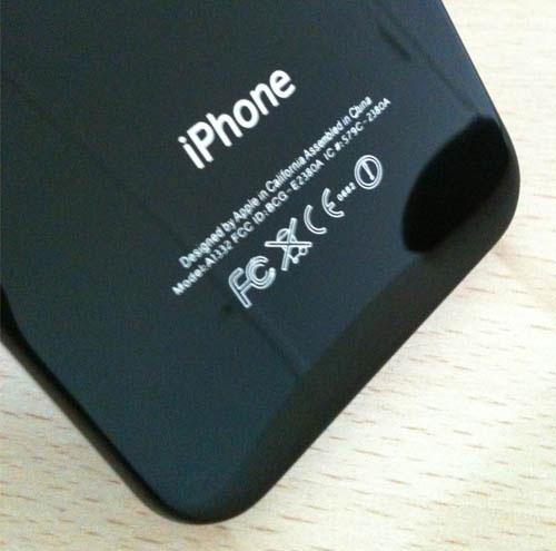 416 iPhBoutique – Coque iPhone 4 Noir avec logo Apple