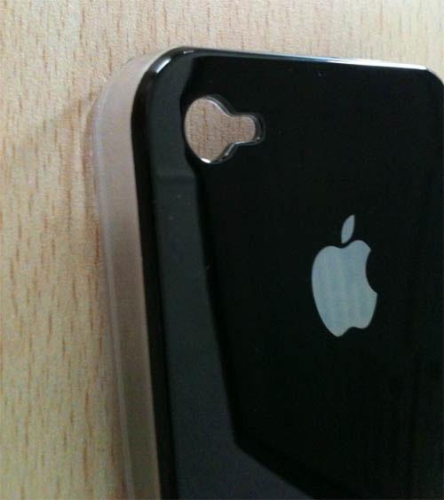 74 iPhBoutique – Coque iPhone 4 Noir avec logo Apple