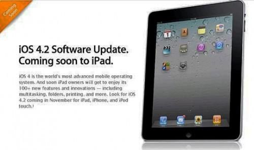 Apple iOS 4.2 update 500x295 Rumeur   iOS 4.2 pour le 24 novembre ?