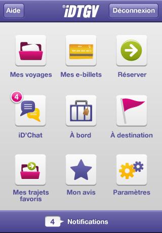 Menu AppStore   iDTGV : Commander des e billets via liPhone
