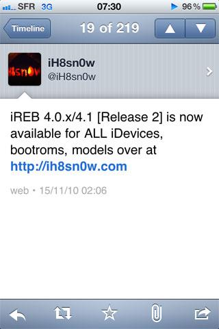 photo 1 2 Jailbreak News   iReb 4.0 enfin disponible : Evitez les erreurs 16xx avec Sn0wBreeze