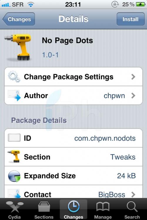 photo 1 500x750 Cydia   No Page Dots : Supprimer les points de la SpringBoard