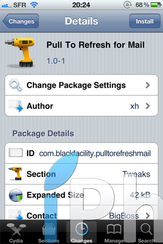 photo 11 Cydia   Pull To Refresh for Mail : Rafraichissiez vos mails dune nouvelle façon