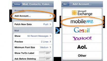 step3 20101116 414x237 add account1 Tutoriel   Configurer la localisation de lappareil via MobileMe