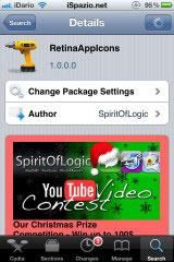 1117 Cydia   RetinaAppIcons : Adaptez automatiquement les icônes à lécran Retina