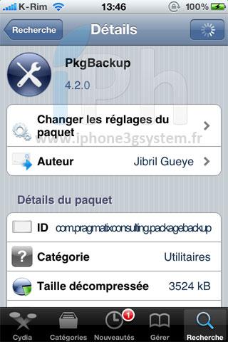 1126 Cydia   PkgBackup 4.2.0 : Enfin disponible avec de très nombreuses nouveautés !