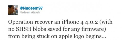 1131 500x163 Jailbreak News   Un hacker tente de downgrade un iPhone 4 en 4.0.2 sans SHSH