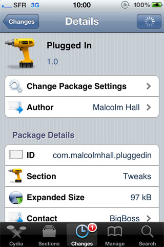 1132 Cydia   Plugged In passe en version 1.3