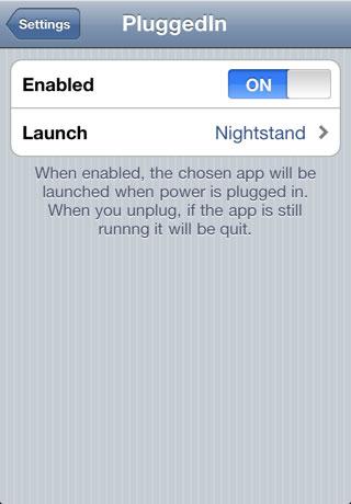 1133 Cydia   Plugged In : Lancez une application au branchement de votre appareil