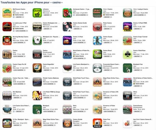 1151 500x415 Jeux   Le casino sur iPhone progresse !