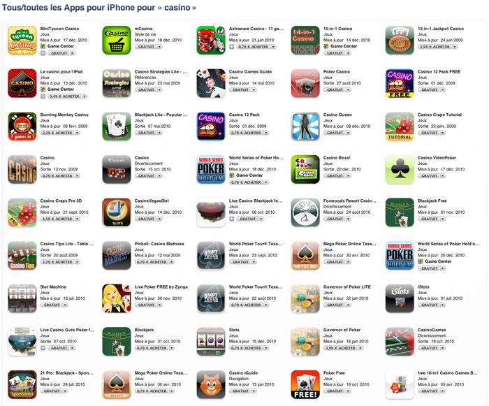 Jeux - Le casino sur iPhone progresse !
