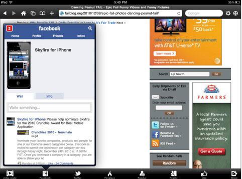 1163 AppStore   Skyfire est disponible pour iPad