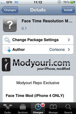 1166 Cydia   FaceTime Resolution Mod : Pour une meilleure expérience FaceTime