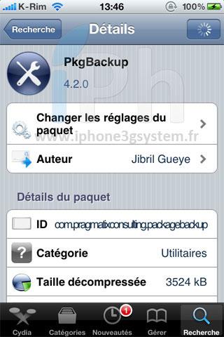 1180 Cydia   PKGBackup passe en version 4.2.3