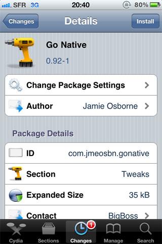 1183 Cydia   Go Native : Des applications non multitâche enfin multitâches