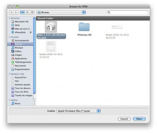 129 500x423 Tutoriel – SAM : Hacktiver votre iPhone 3G[S] et régler le problème de batterie de liOS 4.2.1 [RedSn0w]