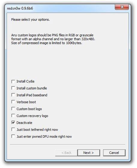 130 Tutoriel – SAM : Hacktiver votre iPhone 3G[S] et régler le problème de batterie de liOS 4.2.1 [RedSn0w]