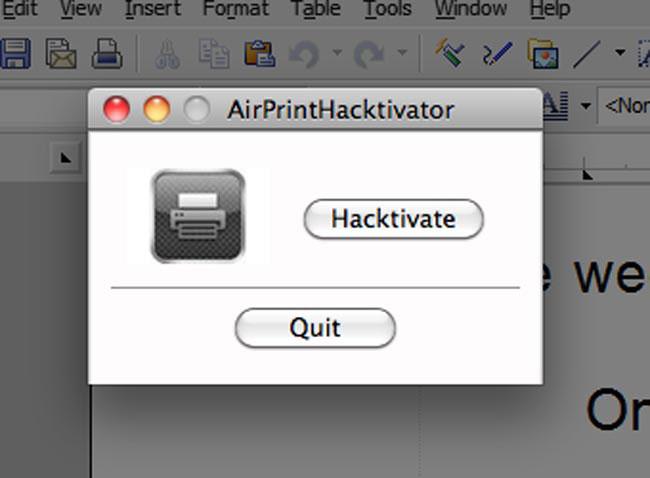 135 News   Apple demande au développeur de AirPrint hactivator de supprimer son logiciel