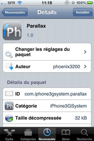 142 Cydia   Parallax mis à jour : compatible iOS 4.2.1 [CRACK]