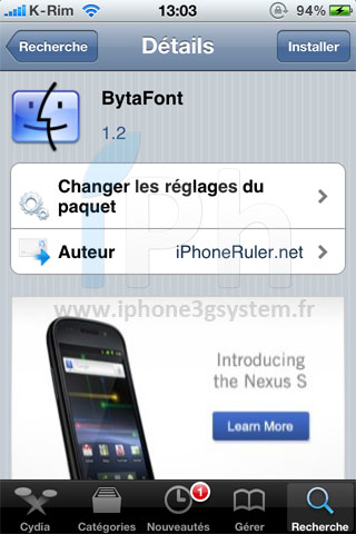 161 Cydia   BytaFont 1.2 : Mise à jour compatible iOS 4.2.1