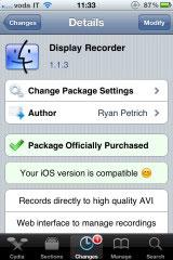 18 Cydia   DisplayRecorder passe en version 1.1.3